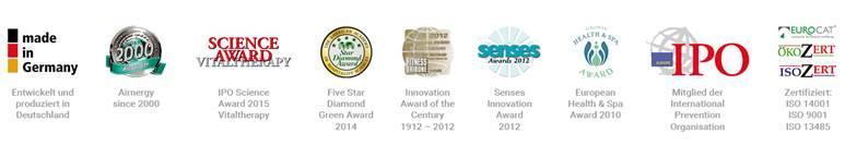 Airnergy Awards und Auszeichungen