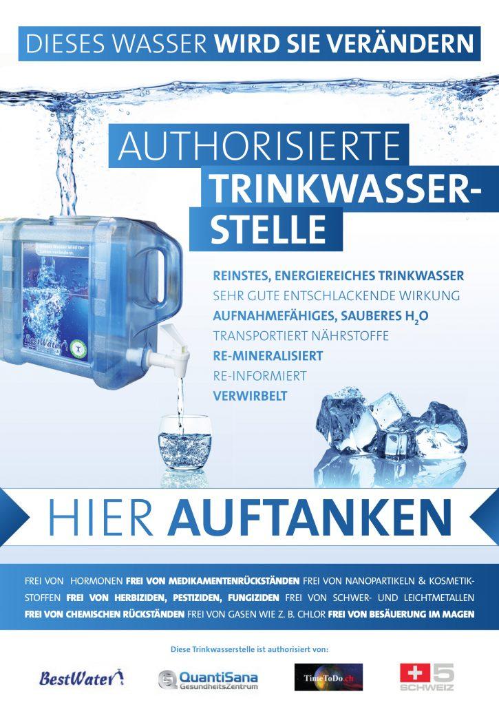 Autorisierte Trinkwassertankstelle - Dieses Wasser wird Sie verändern, hier auftanken
